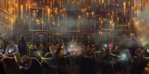 La Grande salle lors du club de duel. Source : https://www.pottermore.com/