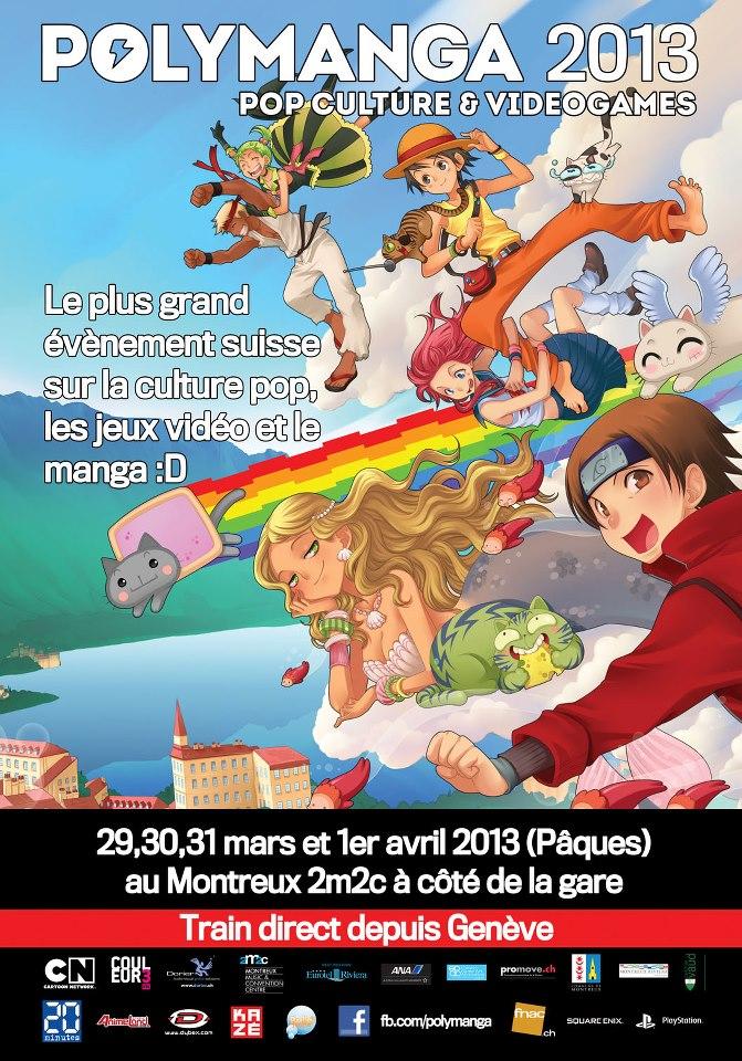 L'affiche du Polymanga 2013