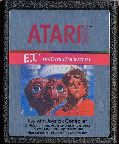 La cartouche du jeu E.T.