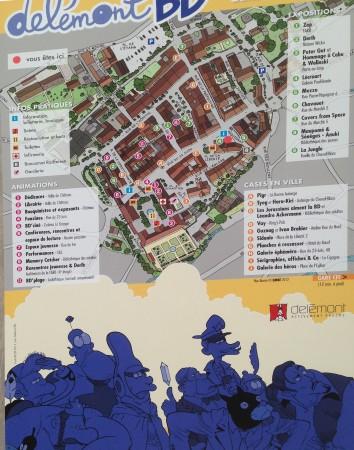 Un plan de la ville adapté spécialement pour le festival