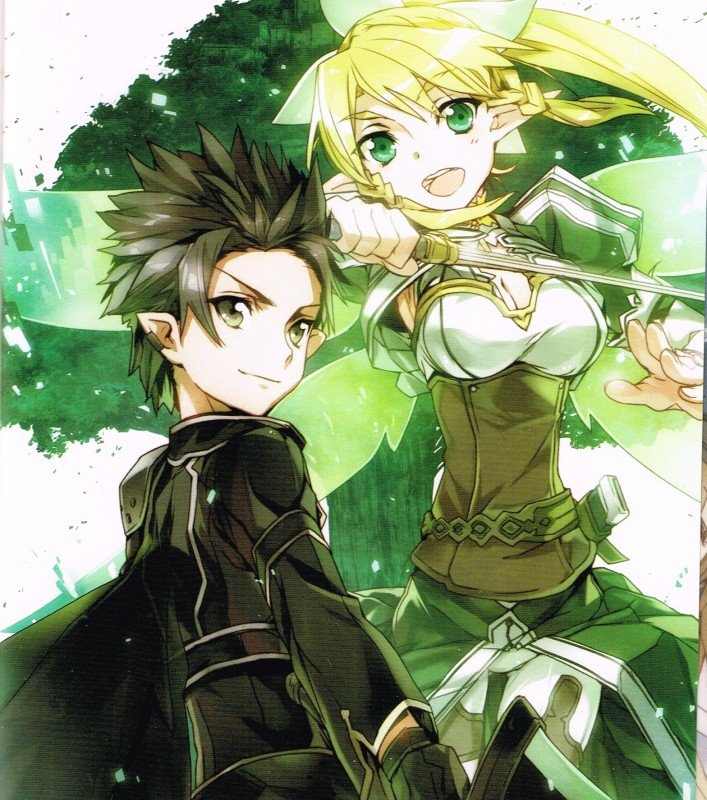 Kirito et Leafa dans Alfheim Online