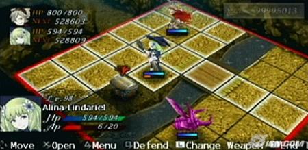 Un petit visuel du système de combat avec son quadrillage