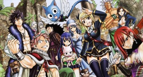 Les membres principaux de Fairy Tail