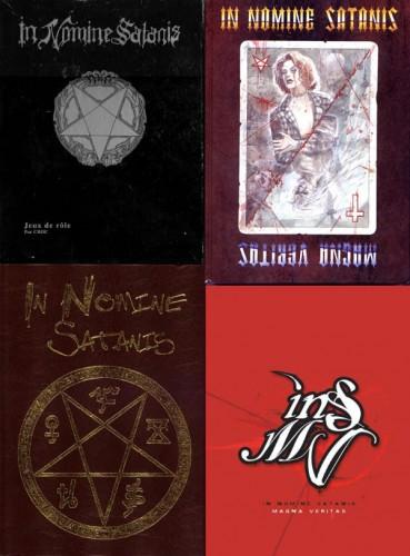 Les livres de base des quatre premières éditions