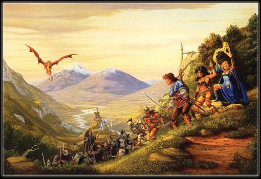 L'une des illustation de l'univers de Greyhawk. Source de l'image : http://www.greyhawk.net/