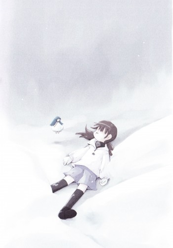 Accident de la petite fille jouant avec la déesse de l'hiver