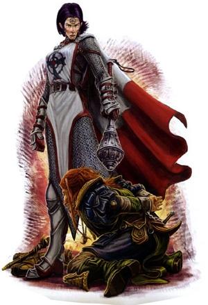 Un prêtre du Bien provenant de Donjons & Dragons