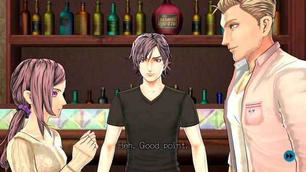 Akane, Junpei et Carlos de Zero Time Dilemma