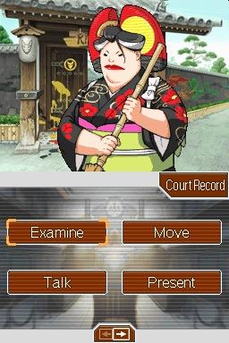 L'écran d'enquête - Ace Attorney Apollo Justice