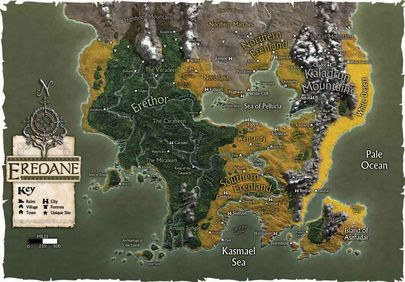 La carte de l'univers d'Edoran