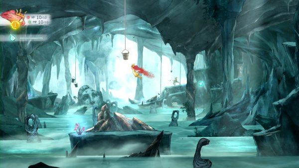 """L'exploration mêle l'extérieur et des """"donjons"""", comme par exemple cette grotte."""