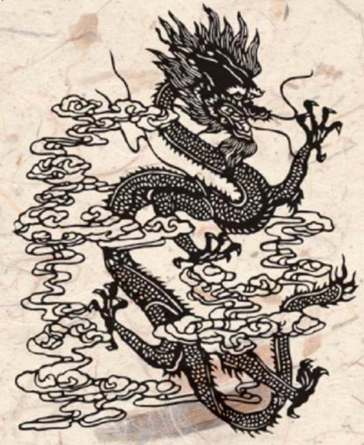 La représentation classique des dragons orientaux