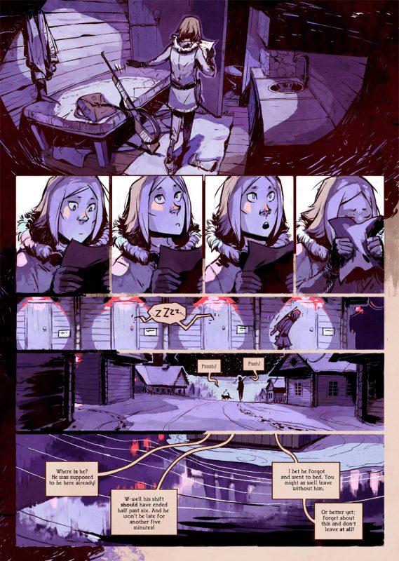 Page du premier chapitre de stand still stay silent