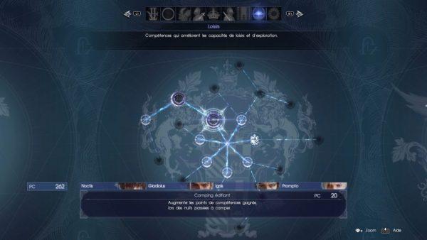 Final Fantsy XV - compétences