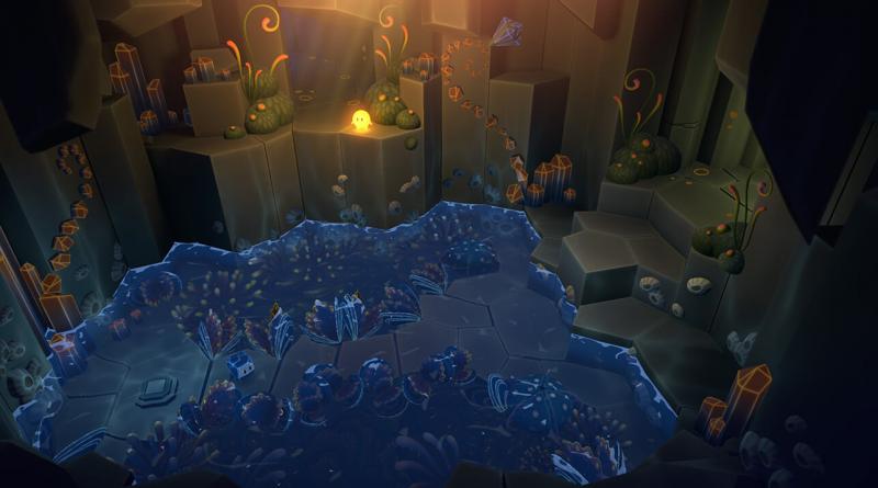 Petit lac intérieur du jeu Pode