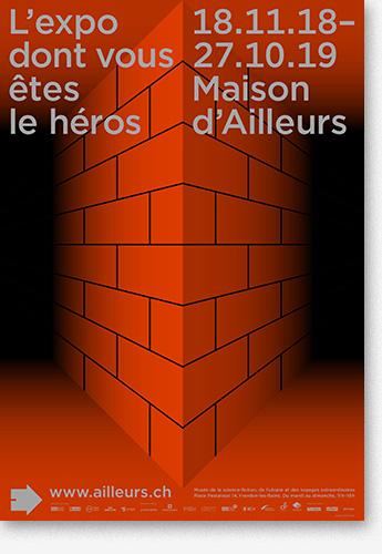 Affiche de l'Expo dont vous êtes le héros - Maison d'Ailleurs