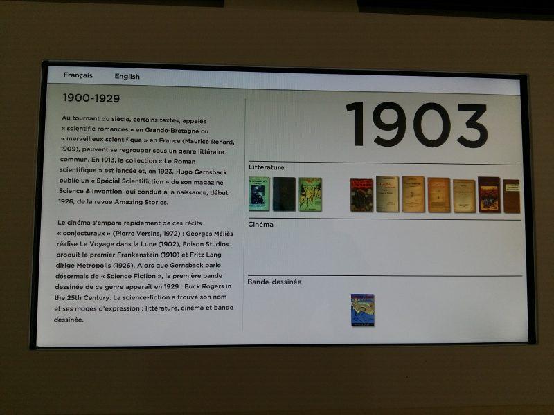 L'une des tablettes permettant d'en savoir plus - Expo dont vous êtes le héros