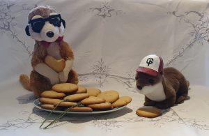 Les mascottes et leurs biscuits des Petites Médiévales