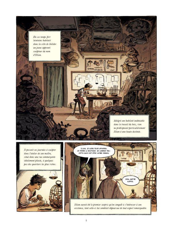Première planche du tome 1 du Boiseleur